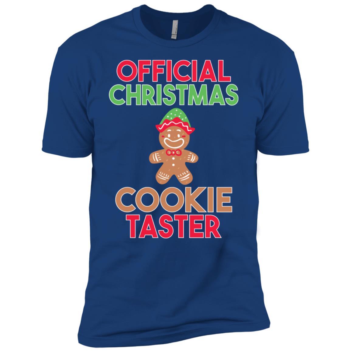 Official Christmas Cookie Taster Funny Christmas Men Short Sleeve T-Shirt