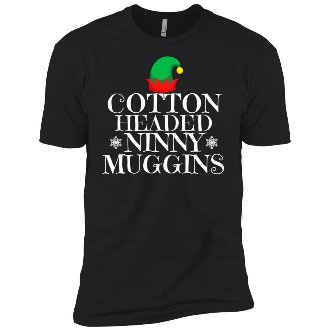 Cotten headed ninny muggins novelty Christmas Tee Men Short Sleeve T-Shirt