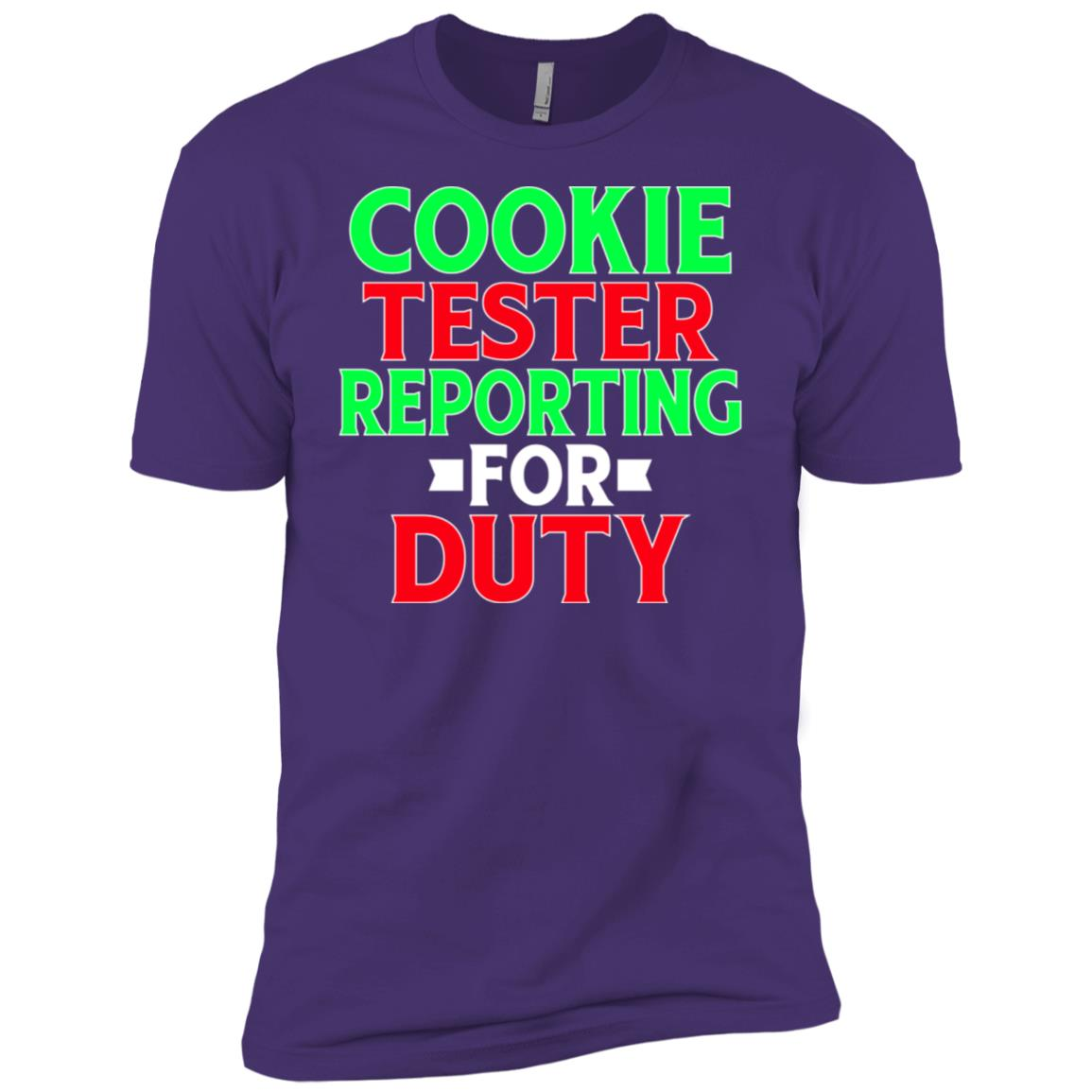 Cookie Tester Reporting For Duty Funny Christmas Men Short Sleeve T-Shirt