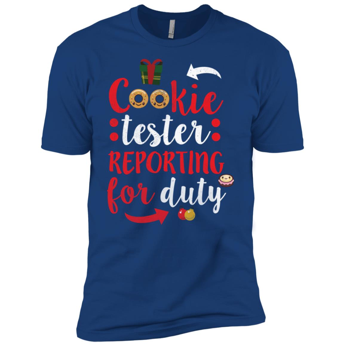 Cookie Tester Reporting For Duty Christmas Men Short Sleeve T-Shirt