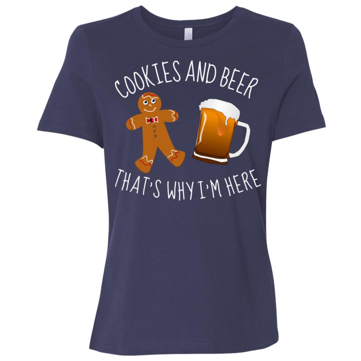 Cookies and Beer funny , Xmas Beer Women Short Sleeve T-Shirt