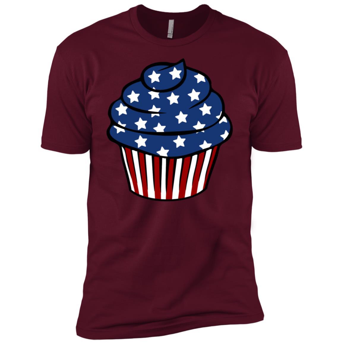 Cupcake Usa Flag Patriotic Pride 4th Of July Cute Long Sle Men Short Sleeve T-Shirt