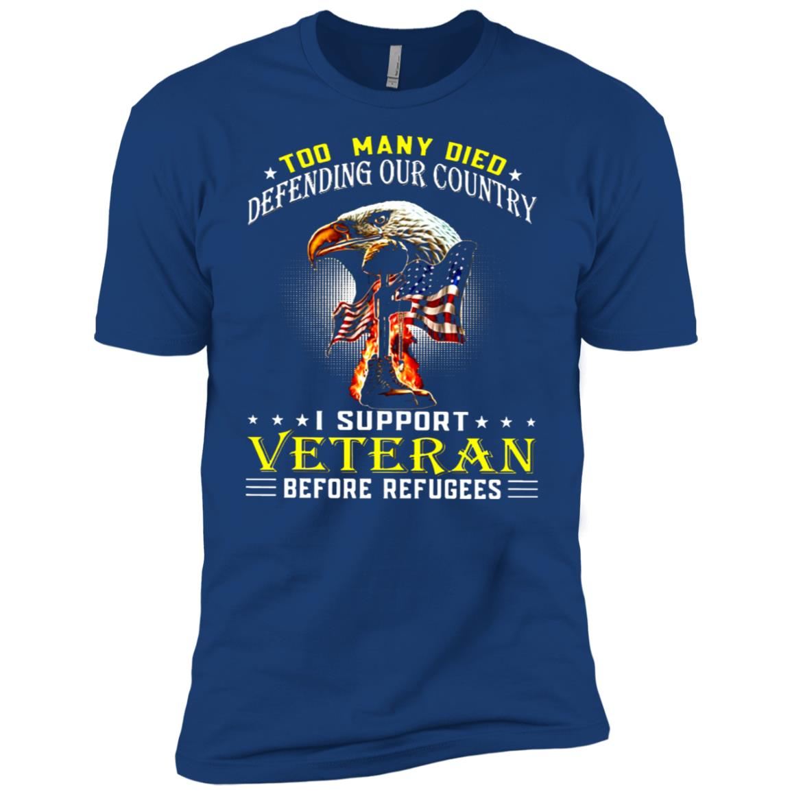 Too Many Died-defending Our Country- i support veteran befor Men Short Sleeve T-Shirt