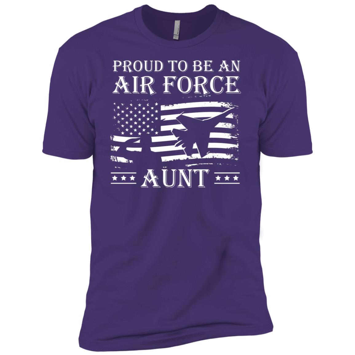 Proud To Be An Air Force Aunt Pride Military Men Short Sleeve T-Shirt