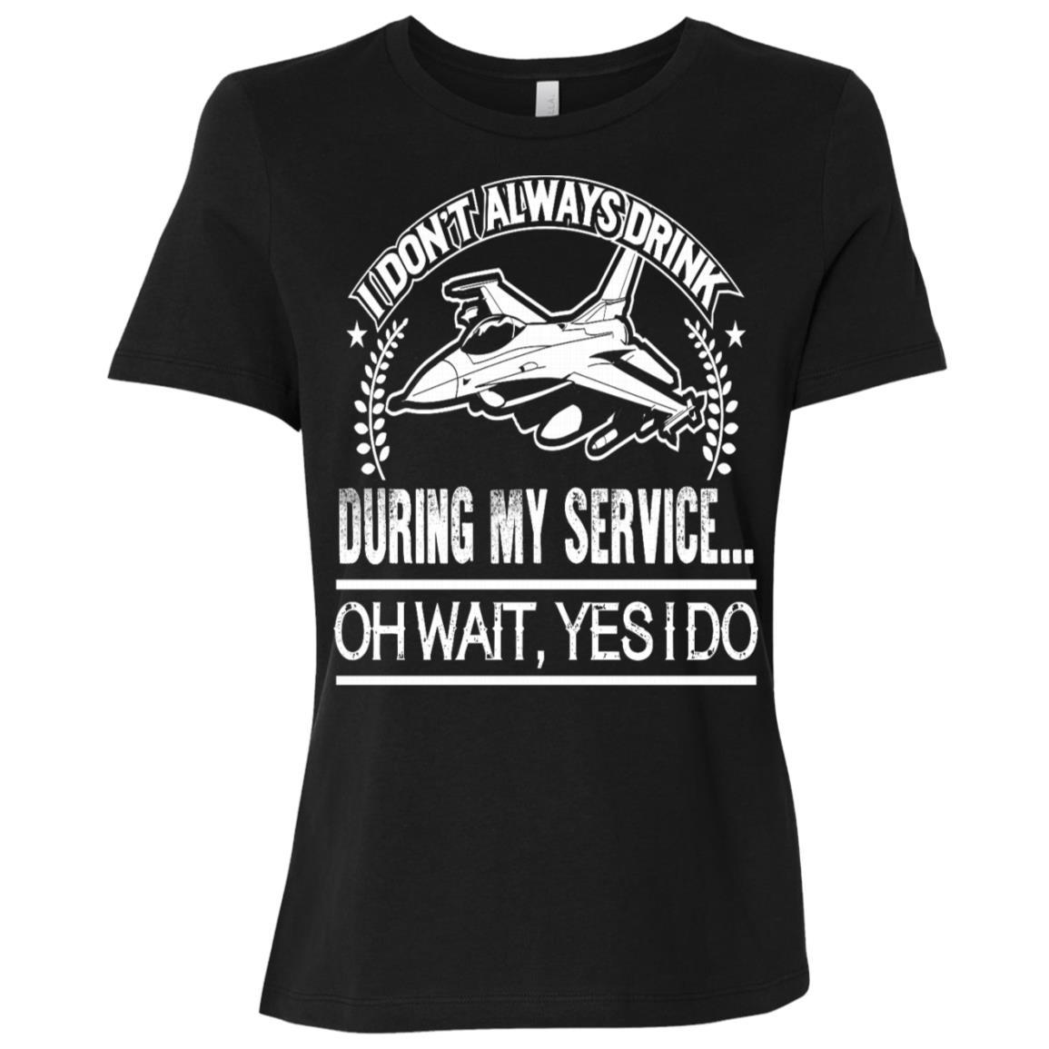 U.s. Air Force – During my service… – Women Short Sleeve T-Shirt