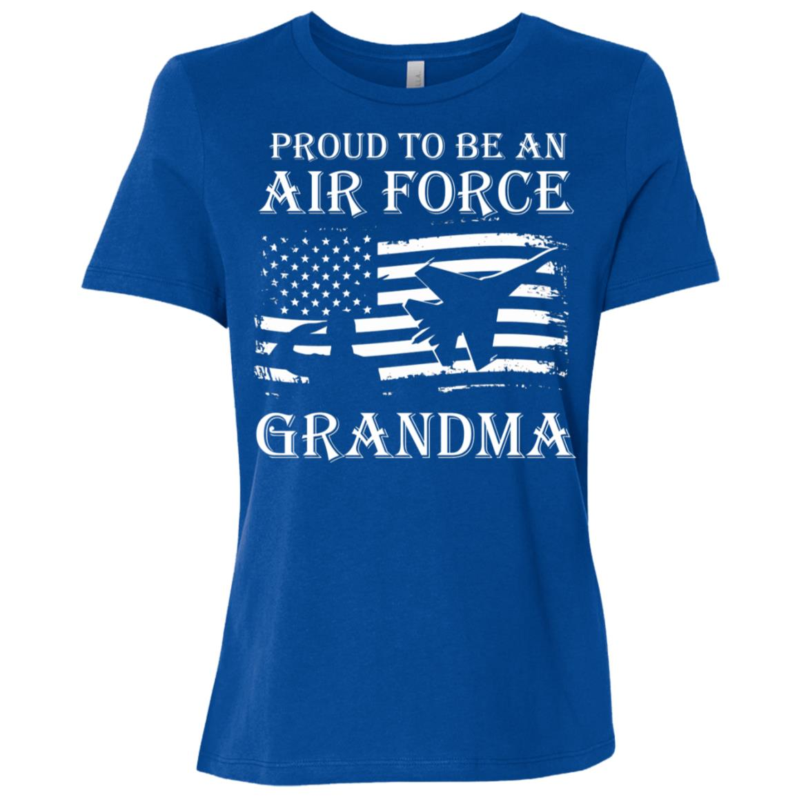 Proud To Be An U.s Air Force Grandma Women Short Sleeve T-Shirt