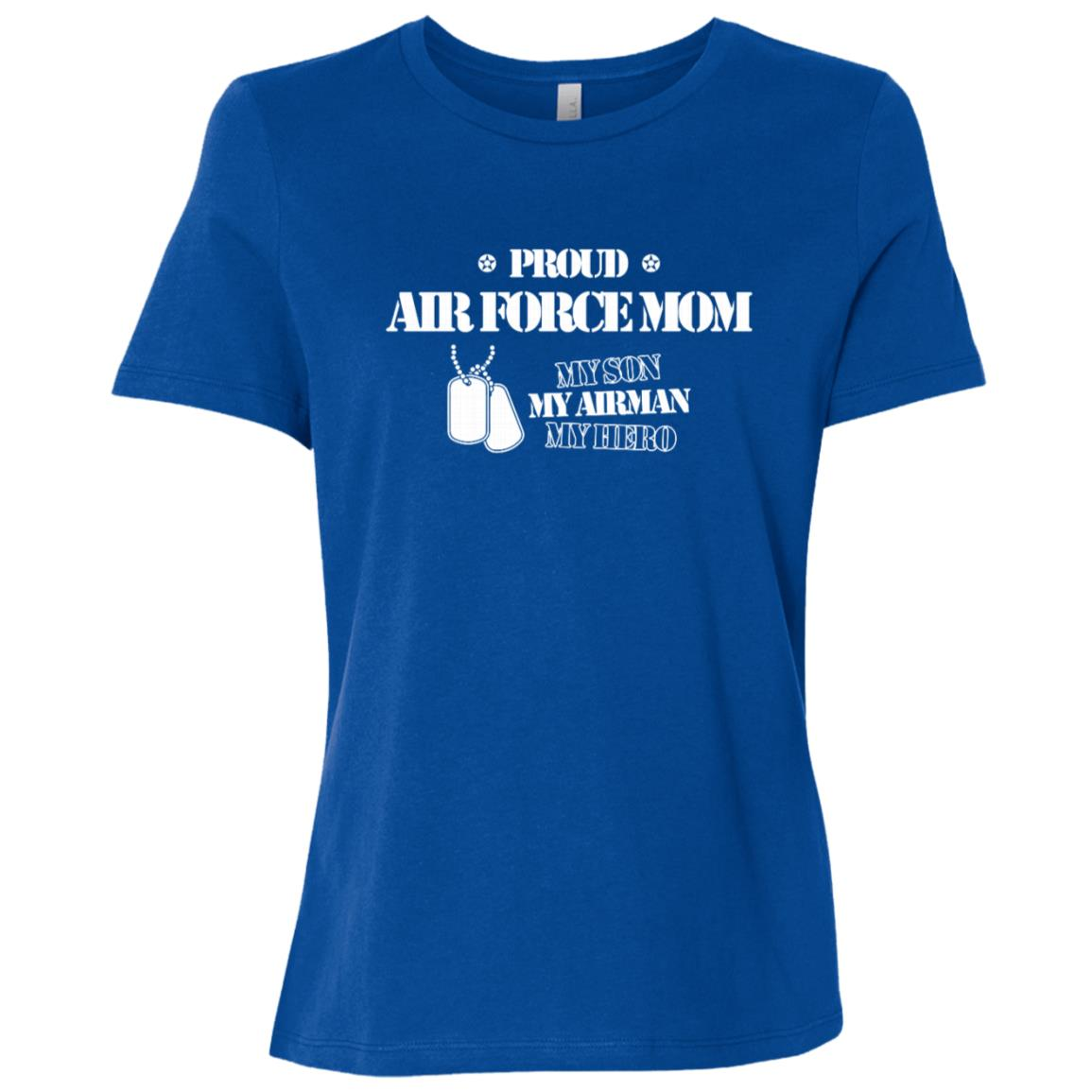 Proud Air Force Mom My Son My Airman Sweater Women Short Sleeve T-Shirt
