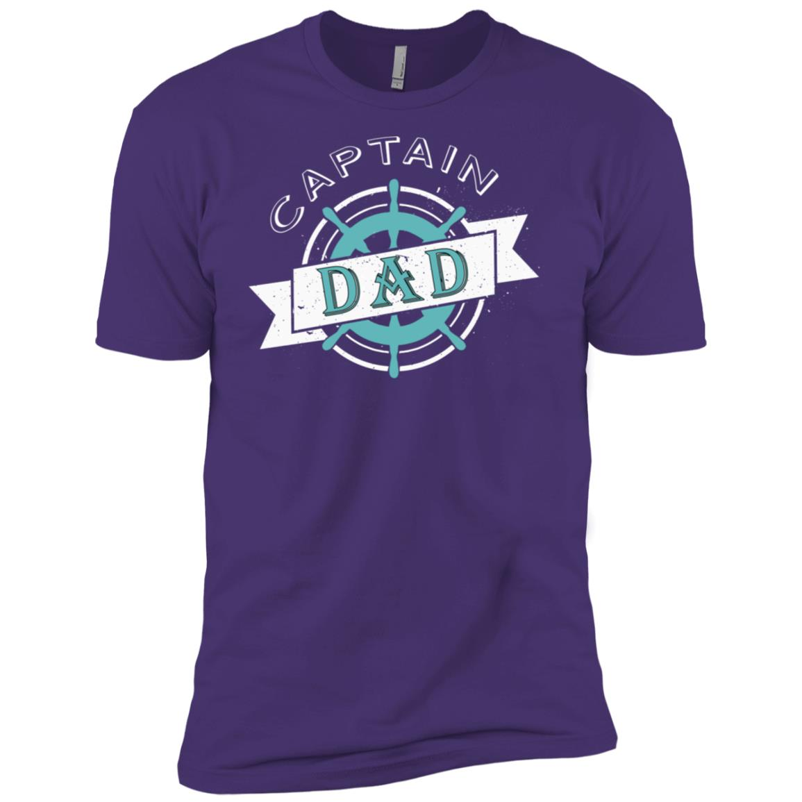 Captain Dad Funny Fathers Day Boat Ship Sailor Men Short Sleeve T-Shirt