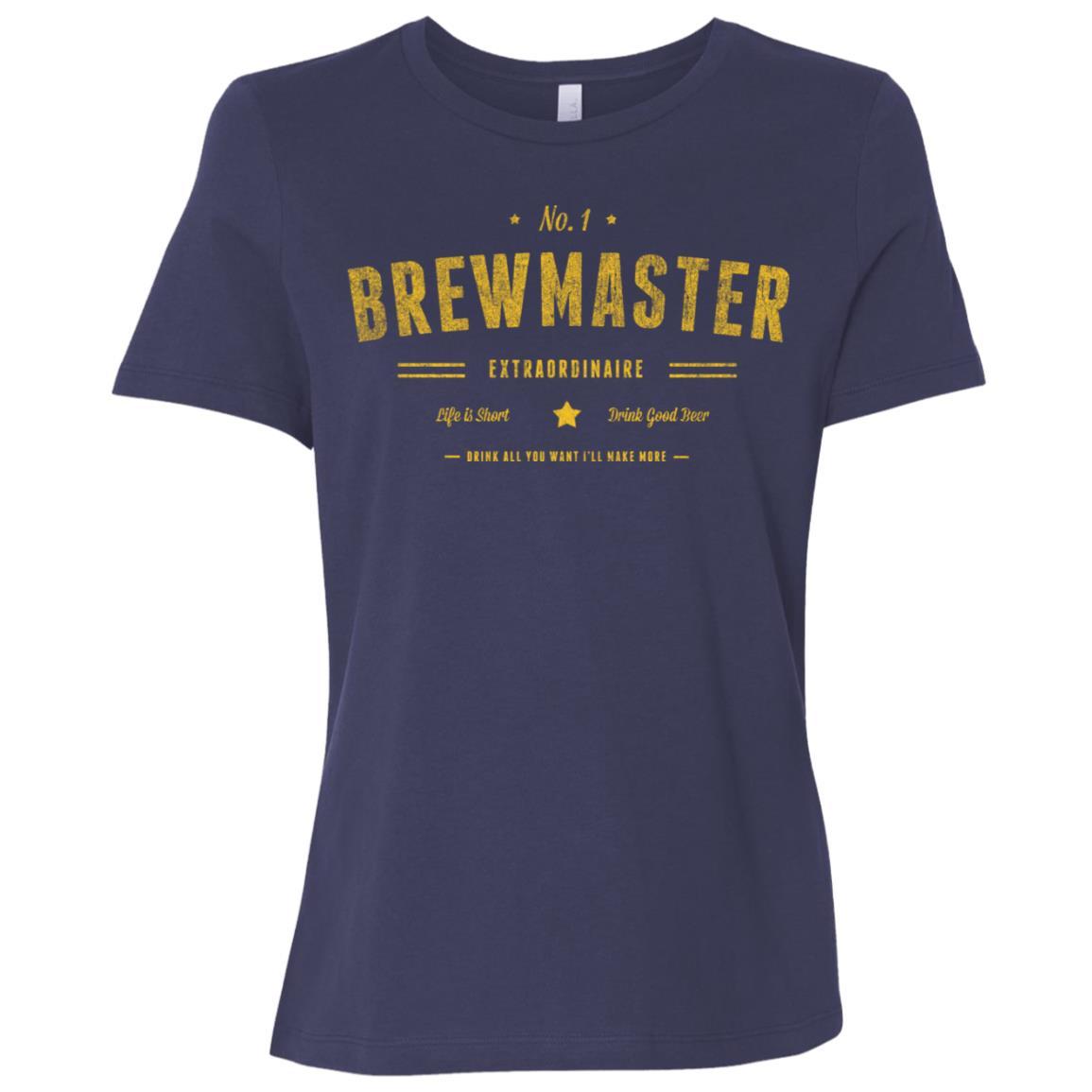 Brewmaster No 1 Beer Brewing Gift Women Short Sleeve T-Shirt
