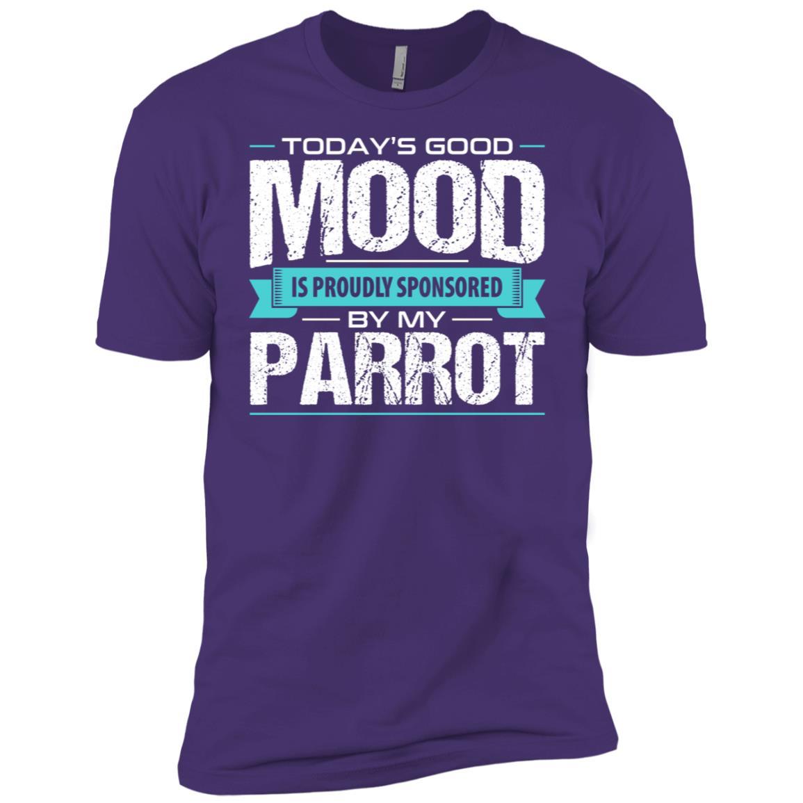 Funny Parrot Men Short Sleeve T-Shirt
