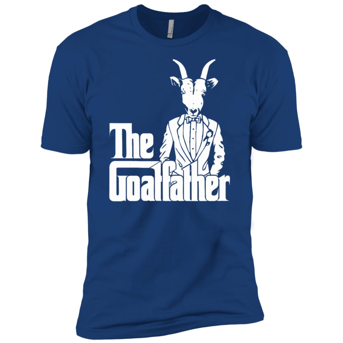 The Goatfather Goat Lover Animal Funny Gift Men Short Sleeve T-Shirt