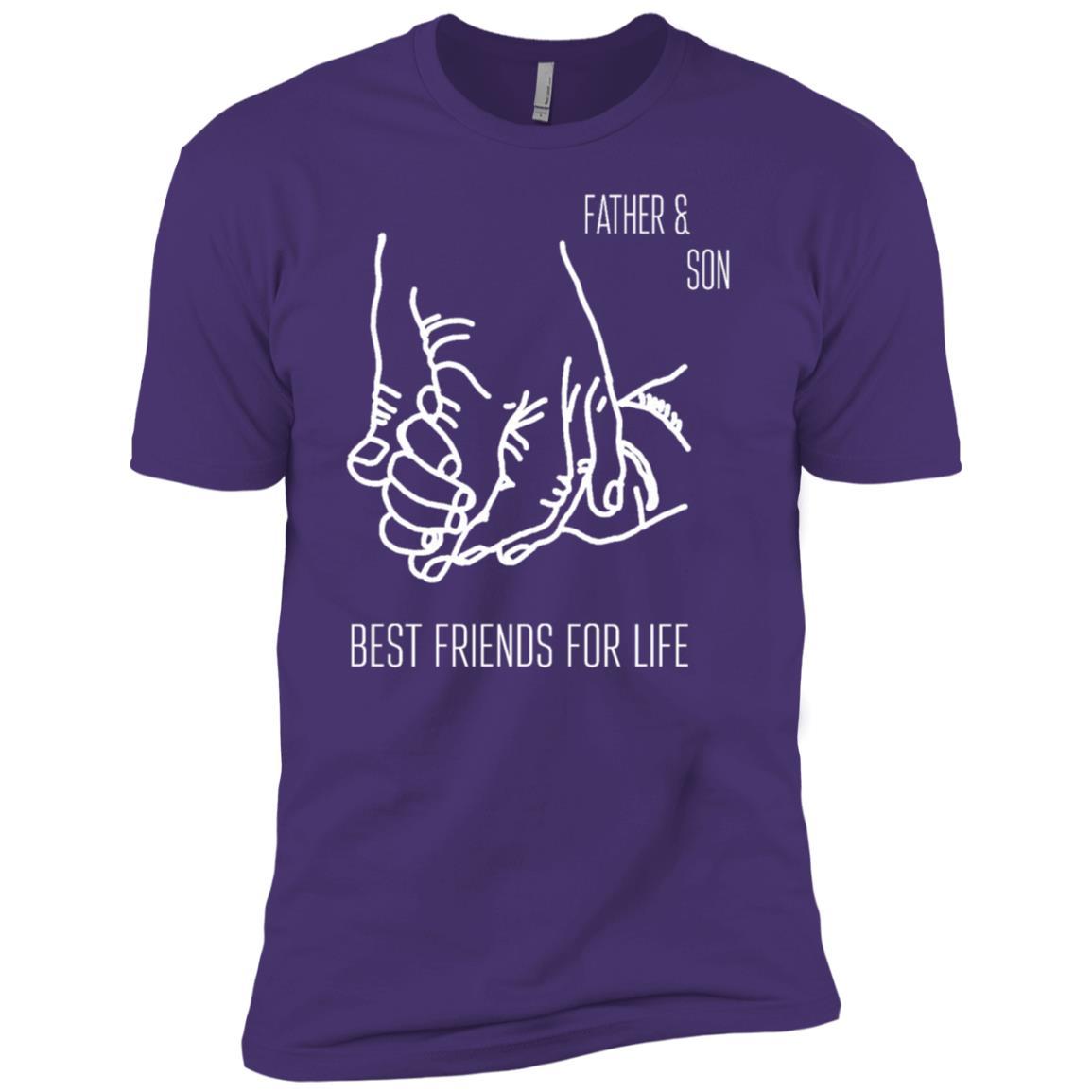 Men's Father & Son Best Friends For Life Cute Gif Men Short Sleeve T-Shirt
