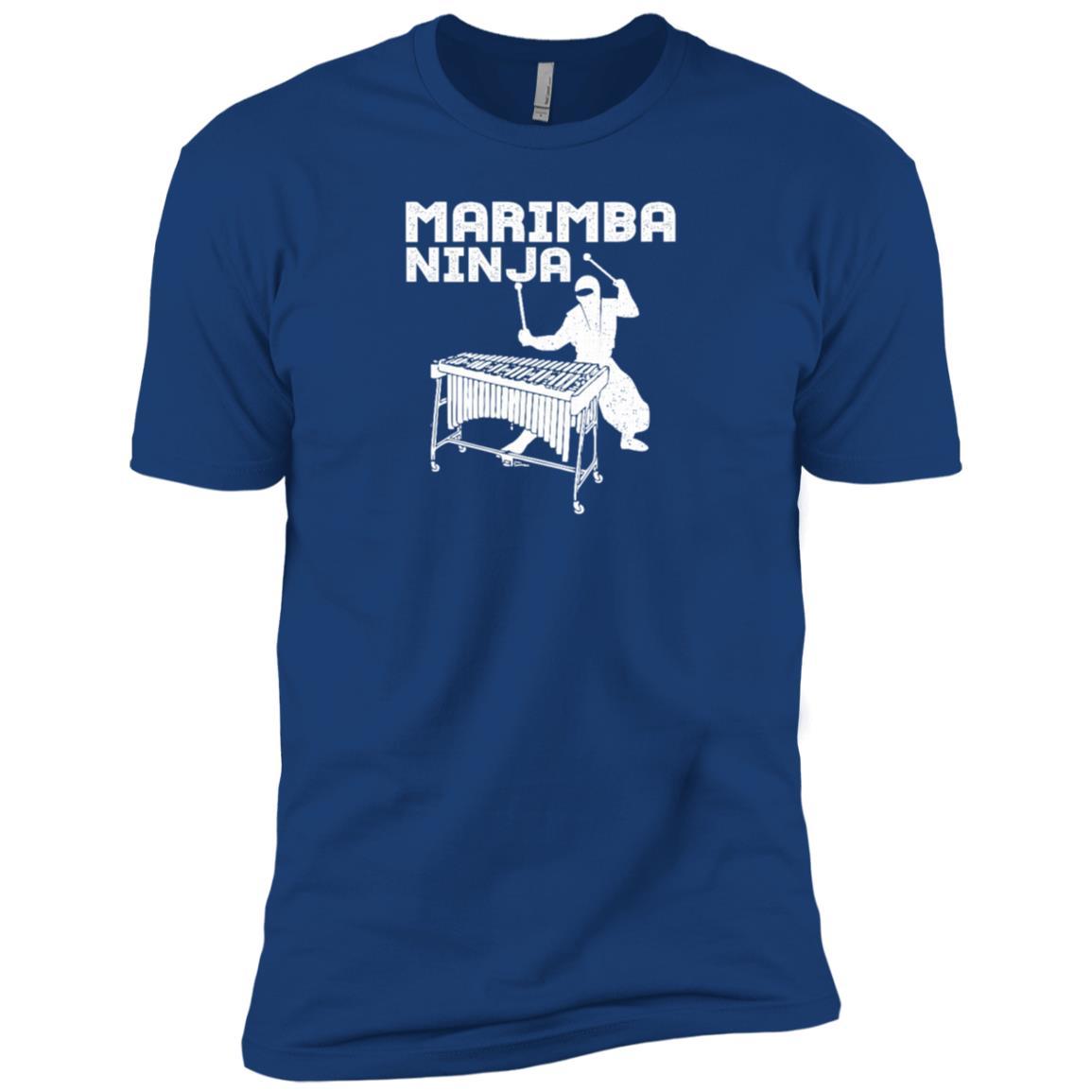 Marimba Ninja Marching Band Percussion Fun Men Short Sleeve T-Shirt
