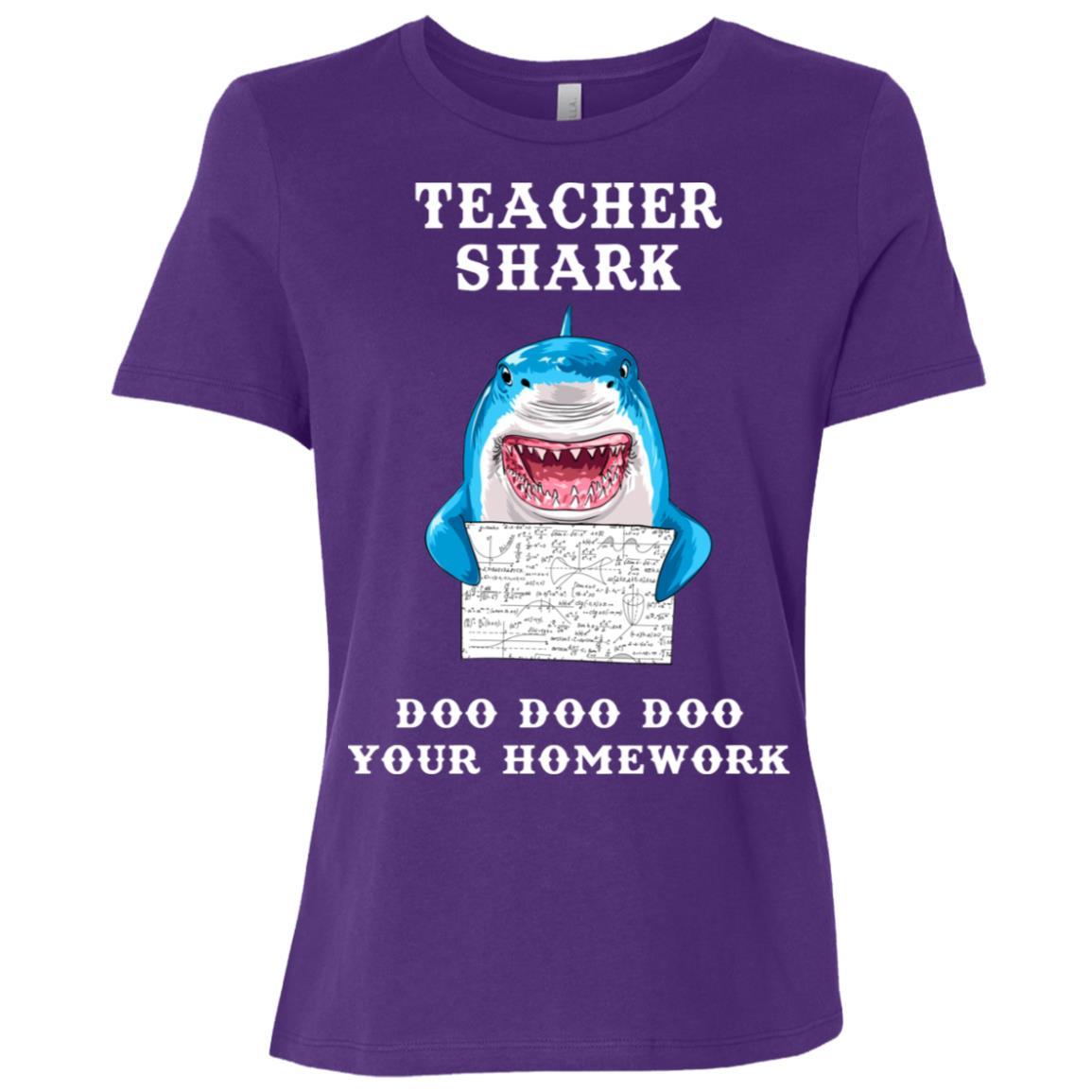 Teacher Shark Do Do Do Do Your Homework For Teacher-1 Women Short Sleeve T-Shirt