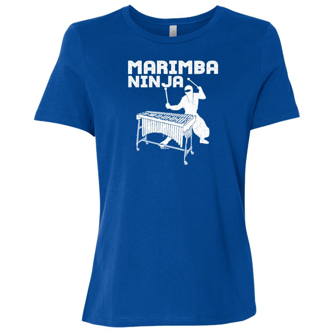 Marimba Ninja Marching Band Percussion Fun Women Short Sleeve T-Shirt