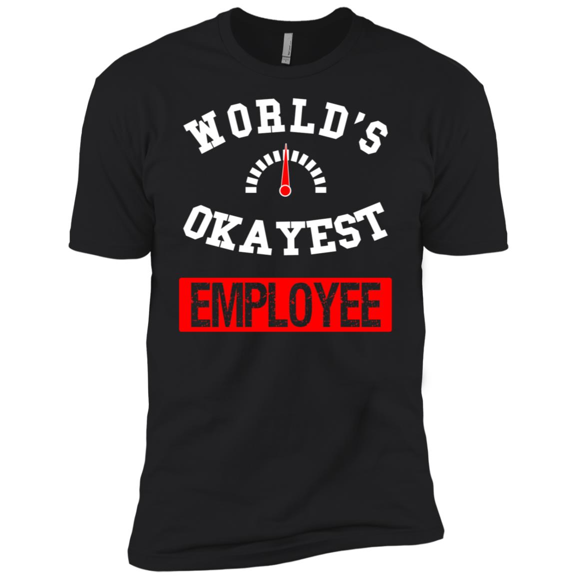 World's Okayest Employee Men Short Sleeve T-Shirt