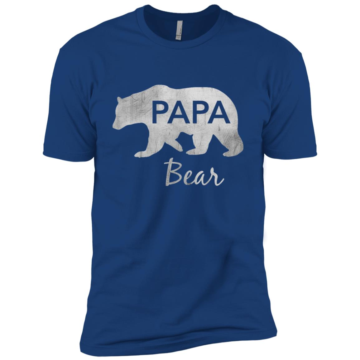 Papa Bear Great Gift For Dad, Father, Grandpa-1 Men Short Sleeve T-Shirt