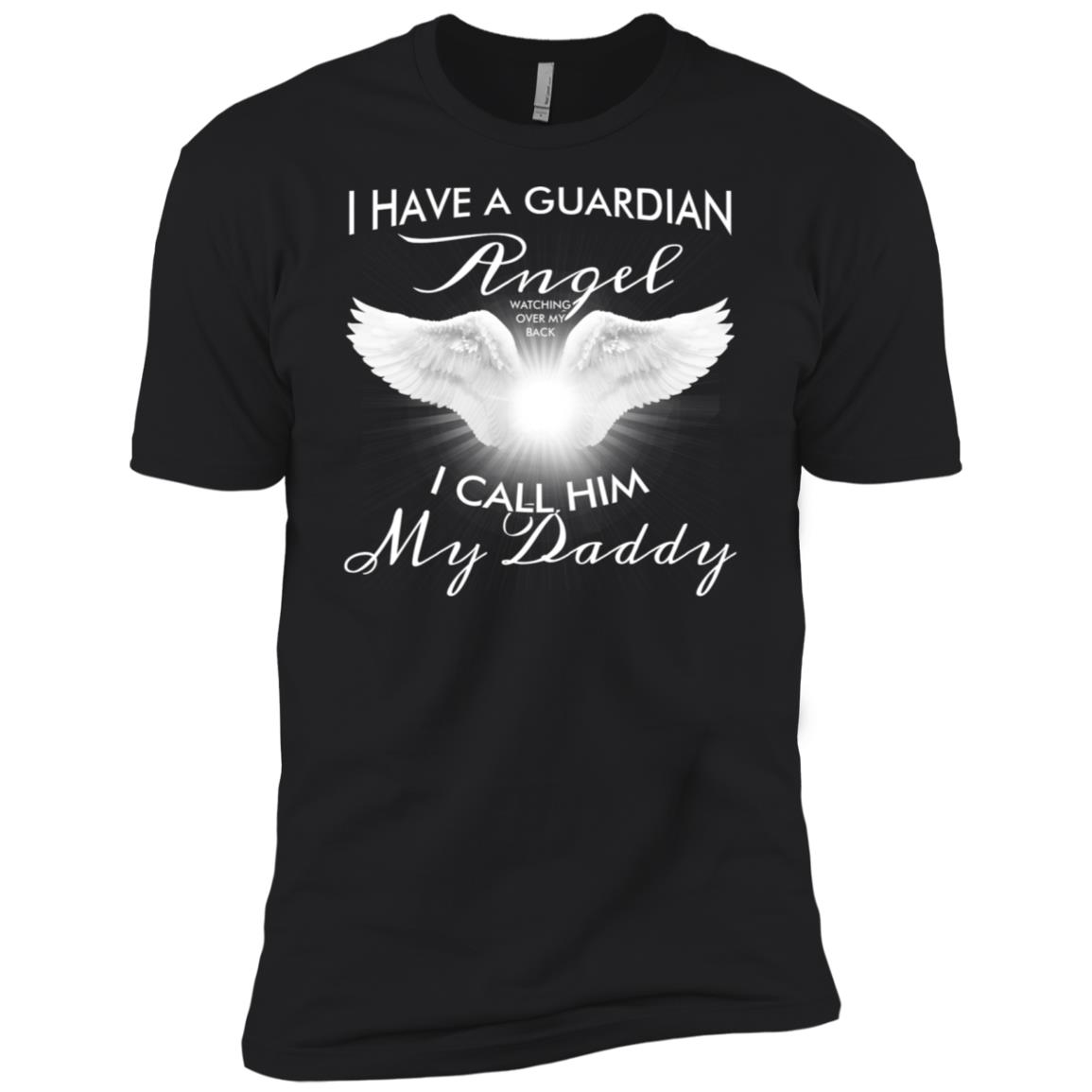 I have a Guardian I Call Him my Daddy Wings Gift Men Short Sleeve T-Shirt