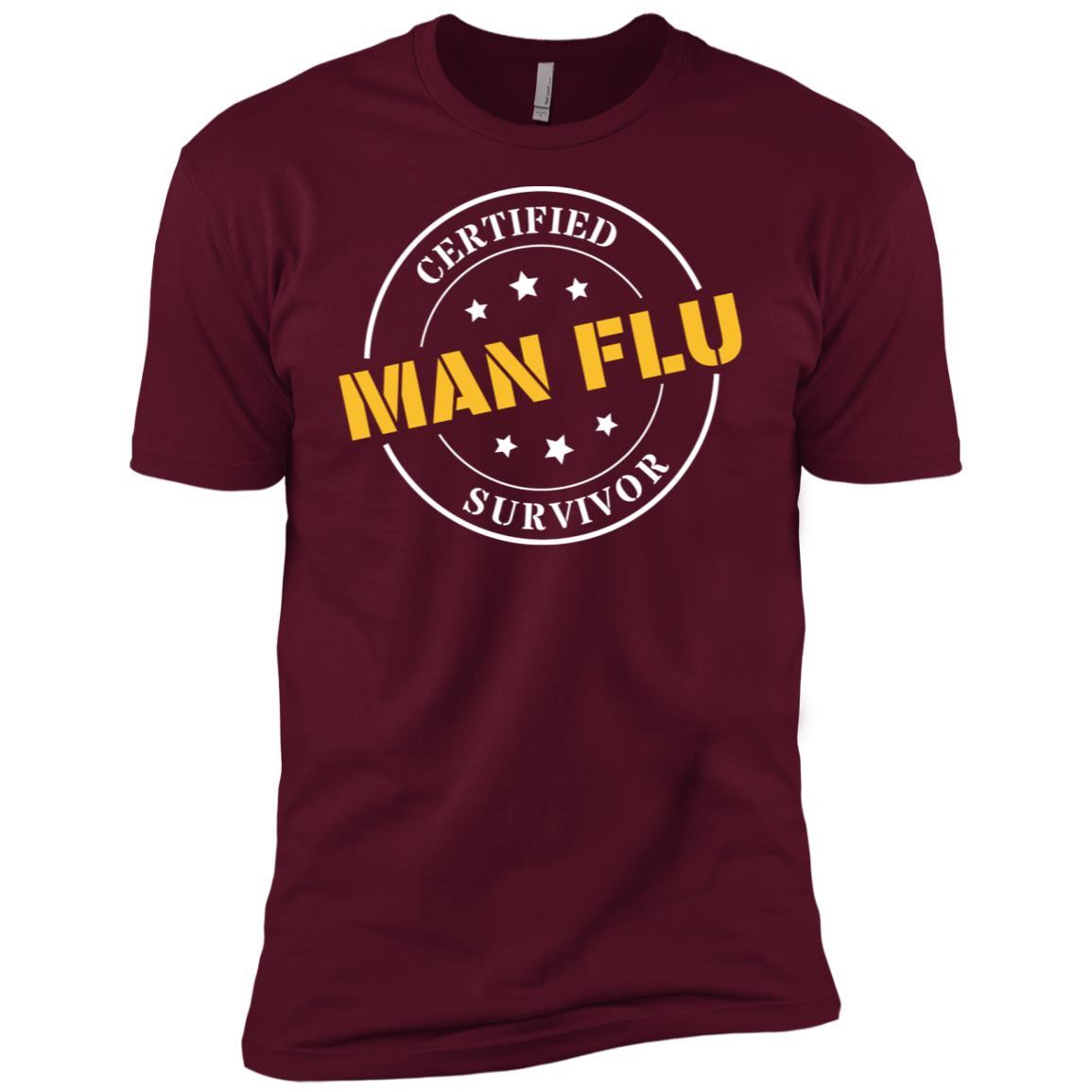 Funny Certified Man Flu Survivor for Fathers Day Men Short Sleeve T-Shirt