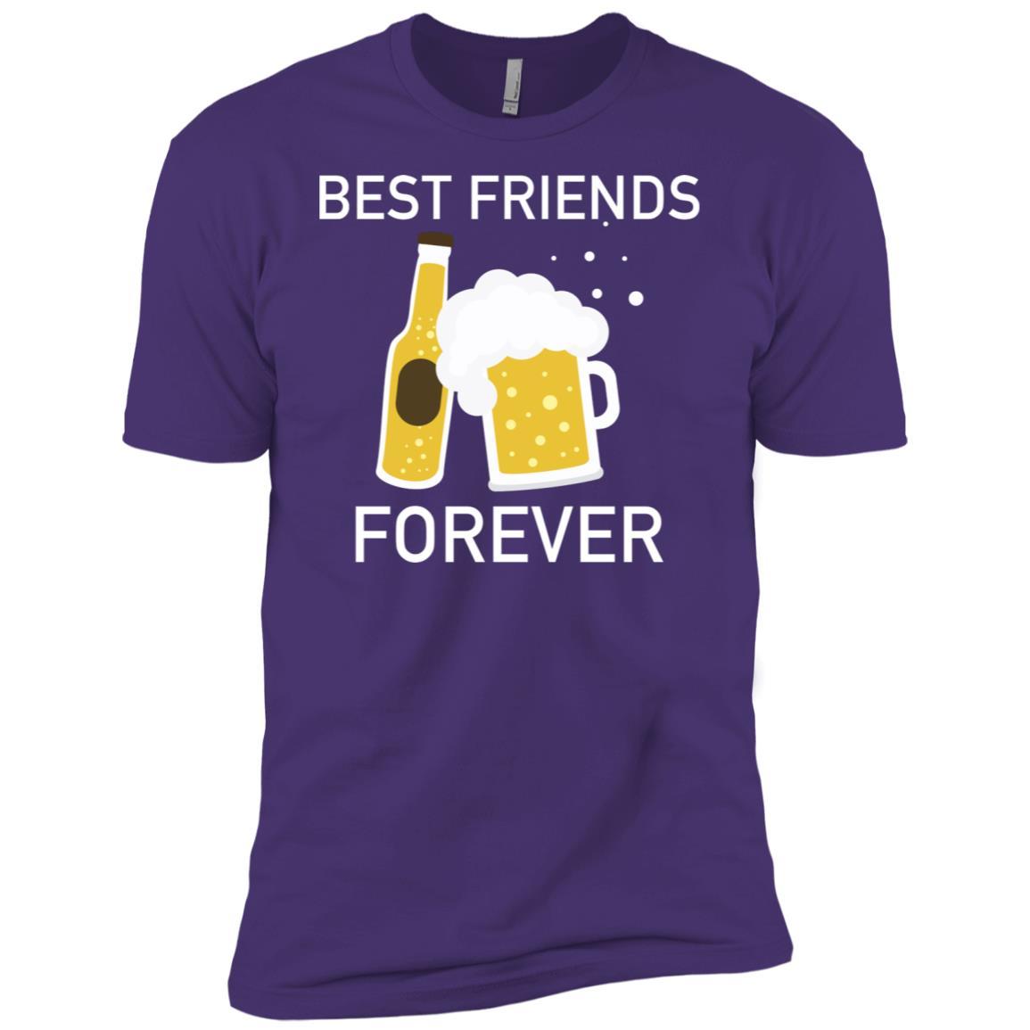 Best Friends Forever Funny Cool Alcohol Drink Men Short Sleeve T-Shirt