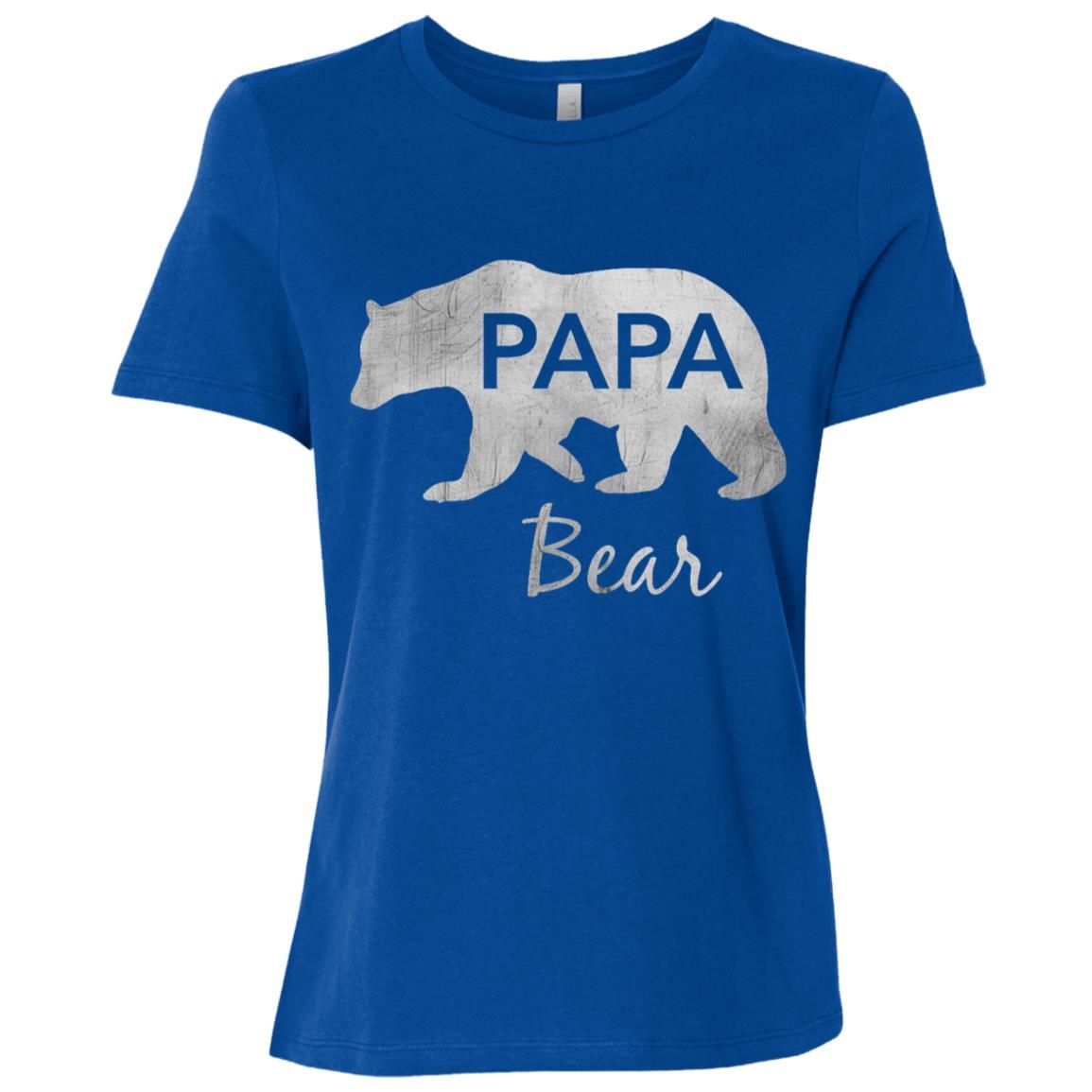 Papa Bear Great Gift For Dad, Father, Grandpa-1 Women Short Sleeve T-Shirt
