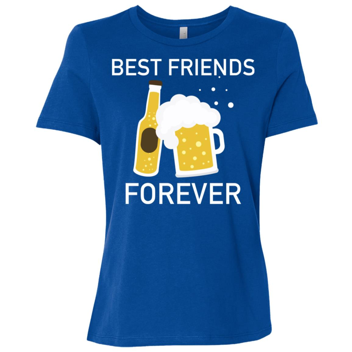 Best Friends Forever Funny Cool Alcohol Drink Women Short Sleeve T-Shirt