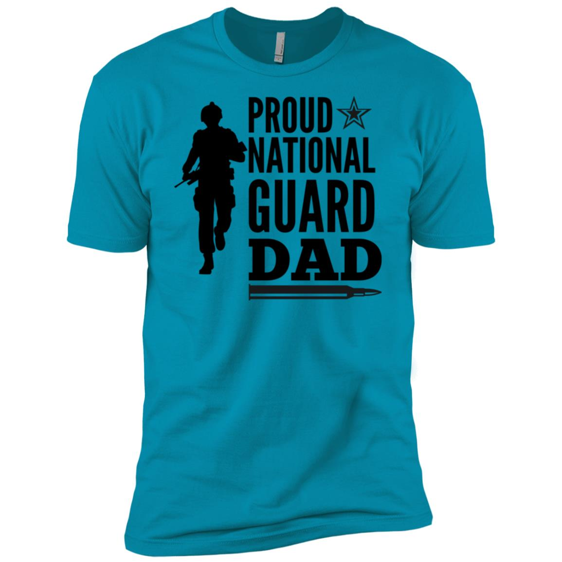 Proud National Guard Dad Star Elite Force Fars Men Short Sleeve T-Shirt