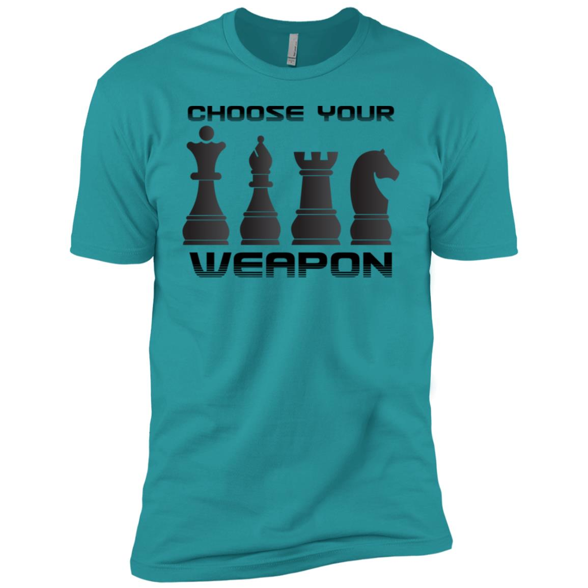 Funny Chess – Choose Your Weapon, Chess Player Men Short Sleeve T-Shirt
