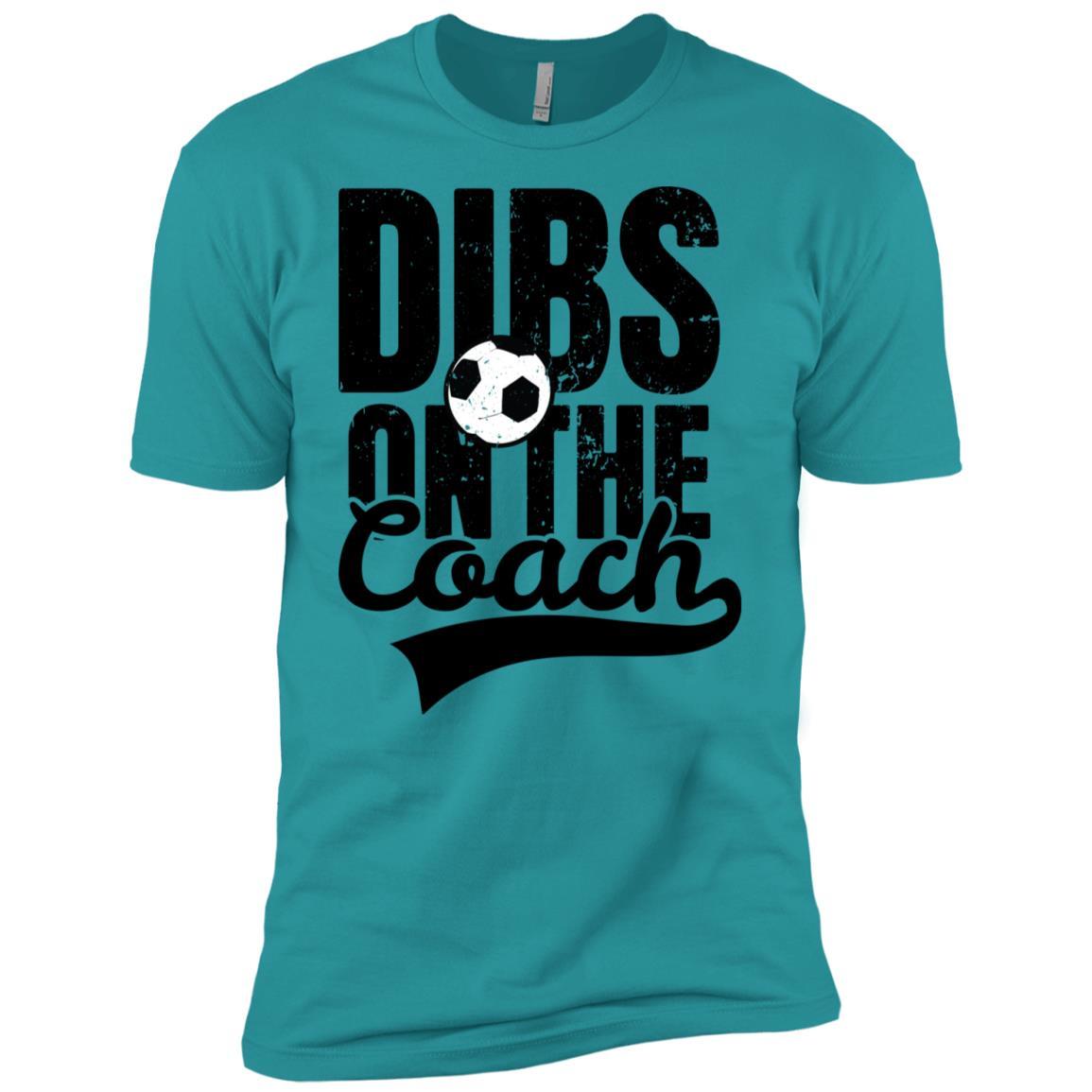 Dibs On The Coach Womens Soccer Men Short Sleeve T-Shirt