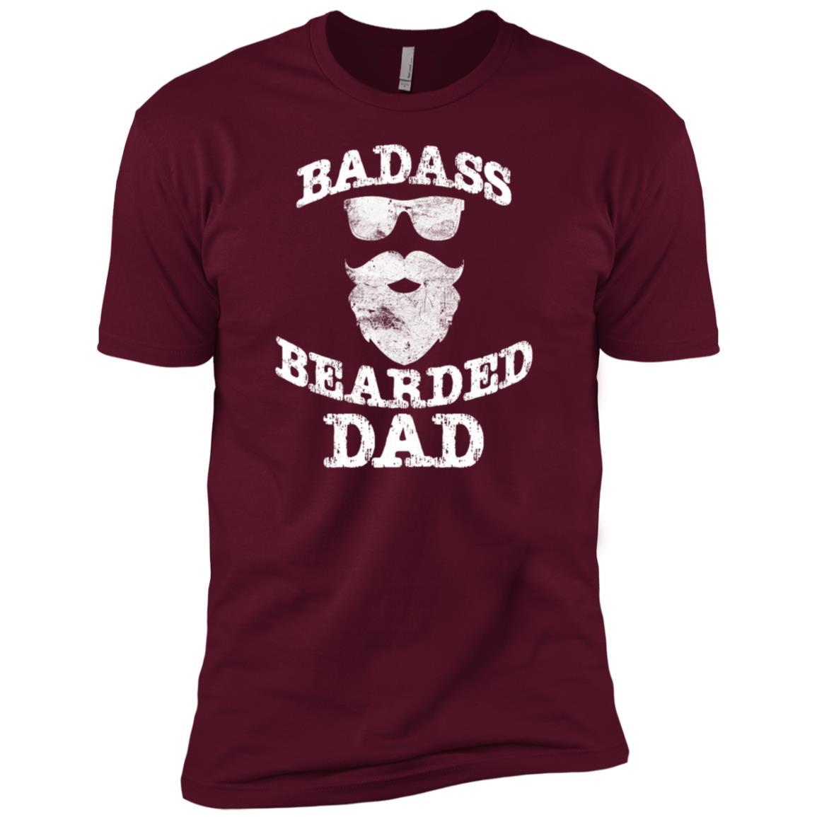 Funny Beards – Badass Bearded Dad Men Short Sleeve T-Shirt