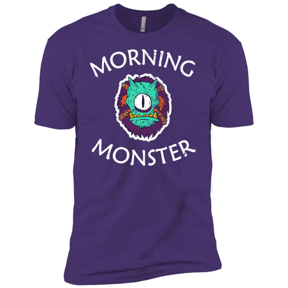 Cute Morning Monster Grumpy, Tried Non Morning People Men Short Sleeve T-Shirt
