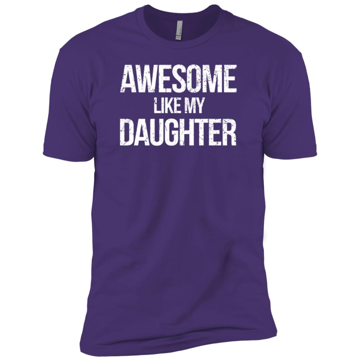Awesome Like My Daughter Father's Day Gift Sleeves Men Short Sleeve T-Shirt