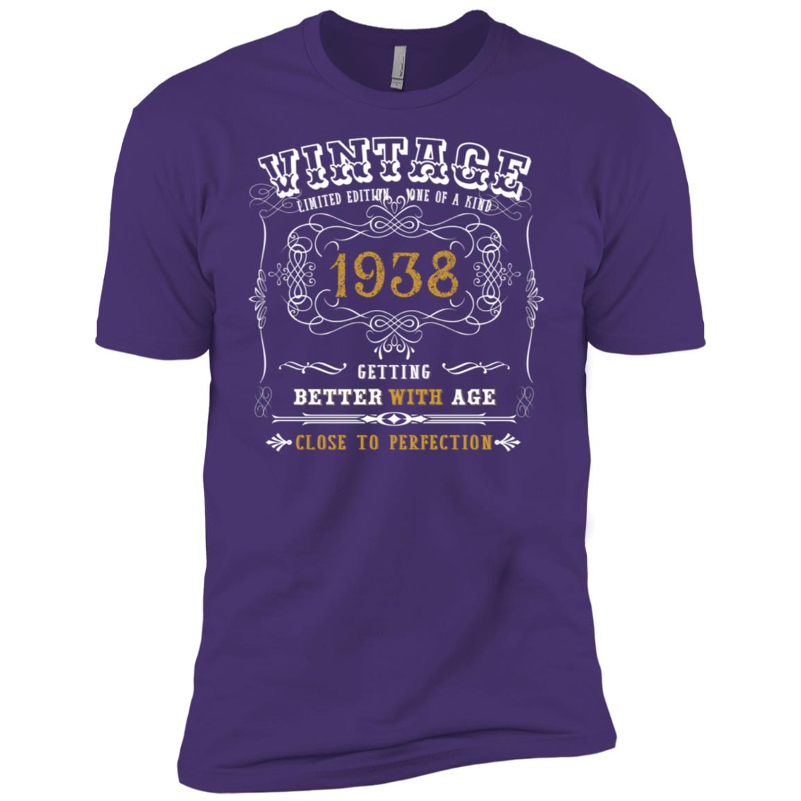 80th year old Funny Birthday Gifts 1938 Limited Edition Tee Men Short Sleeve T-Shirt