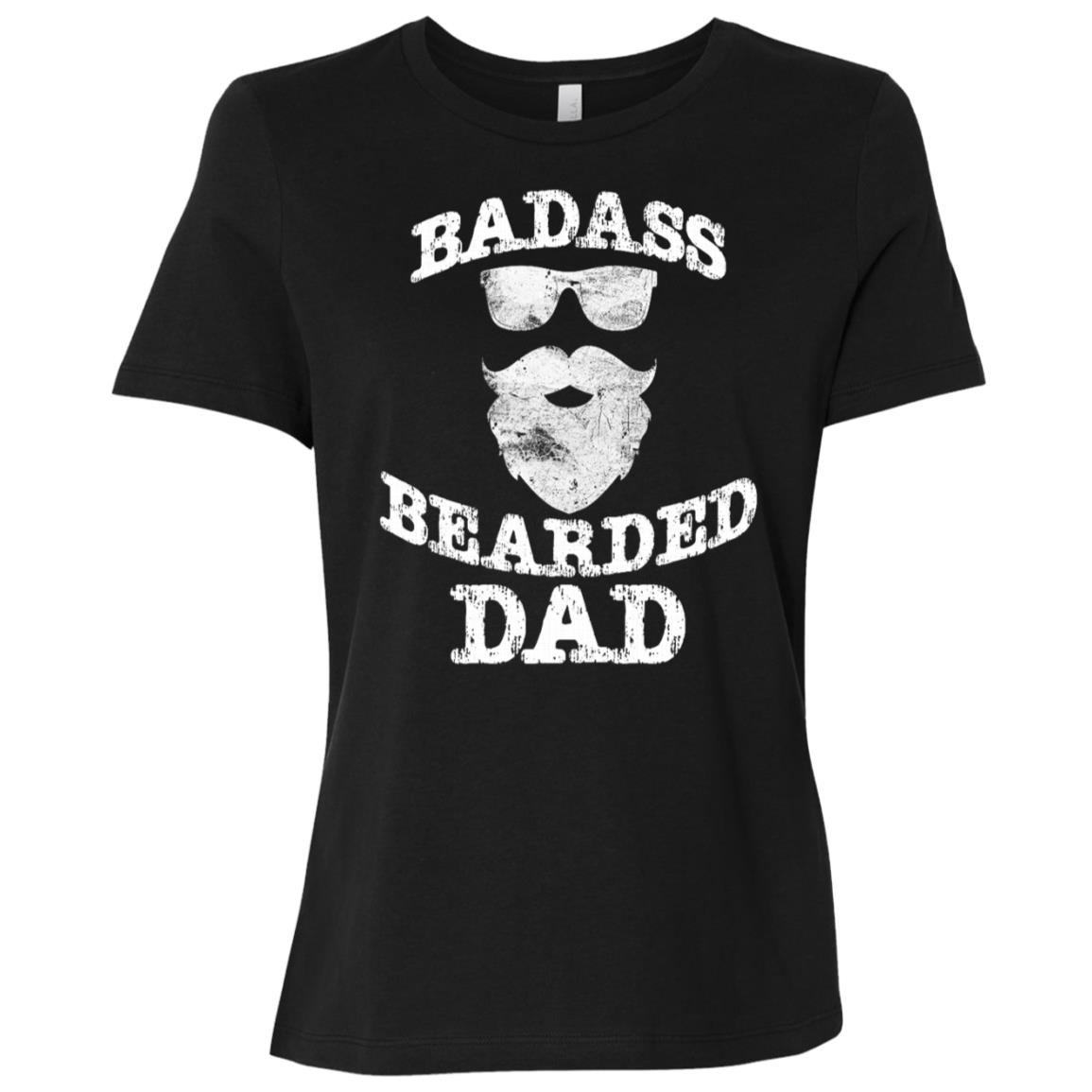 Funny Beards – Badass Bearded Dad Women Short Sleeve T-Shirt