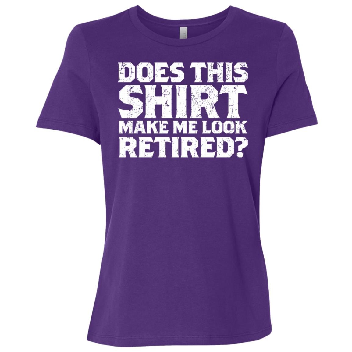 Does This Make Me Look Retired Daddy Sleeves Women Short Sleeve T-Shirt