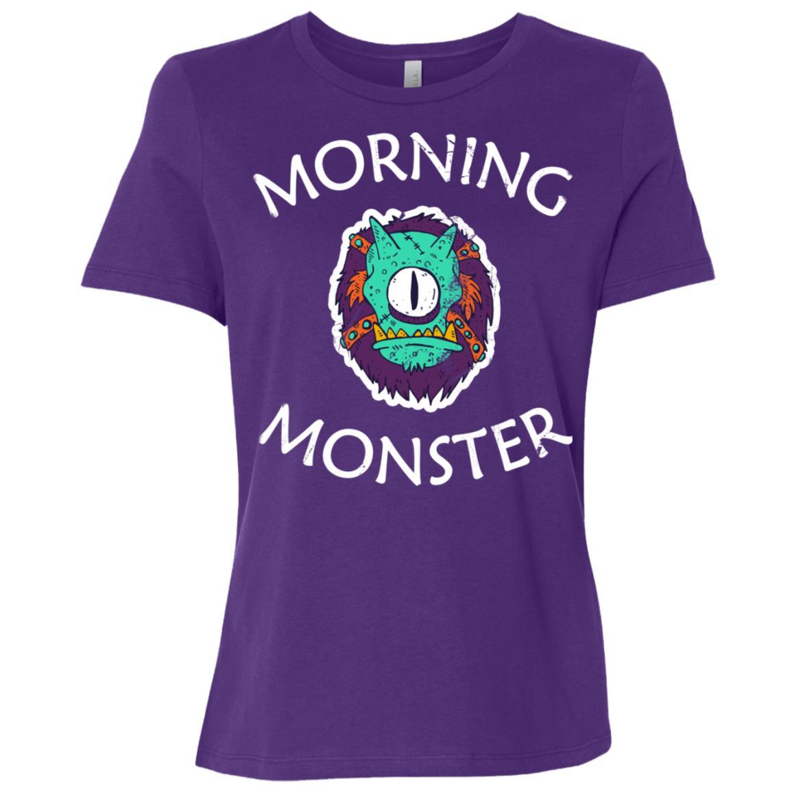 Cute Morning Monster Grumpy, Tried Non Morning People Women Short Sleeve T-Shirt