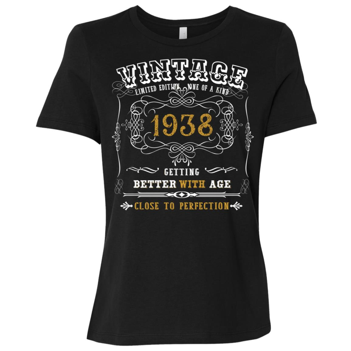 80th year old Funny Birthday Gifts 1938 Limited Edition Tee Women Short Sleeve T-Shirt
