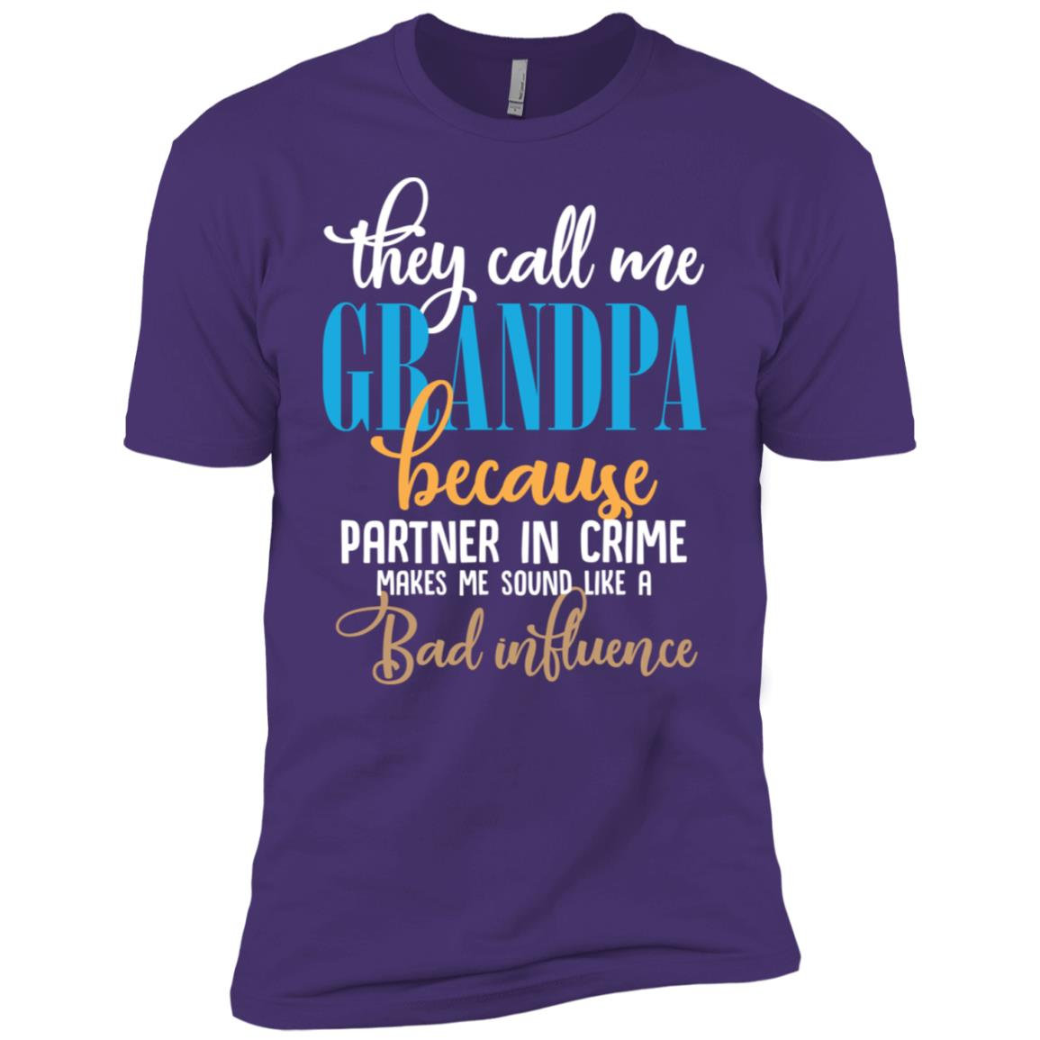 They Call Me Grandpa Partner In Crime sleeve Fathers Day Men Short Sleeve T-Shirt