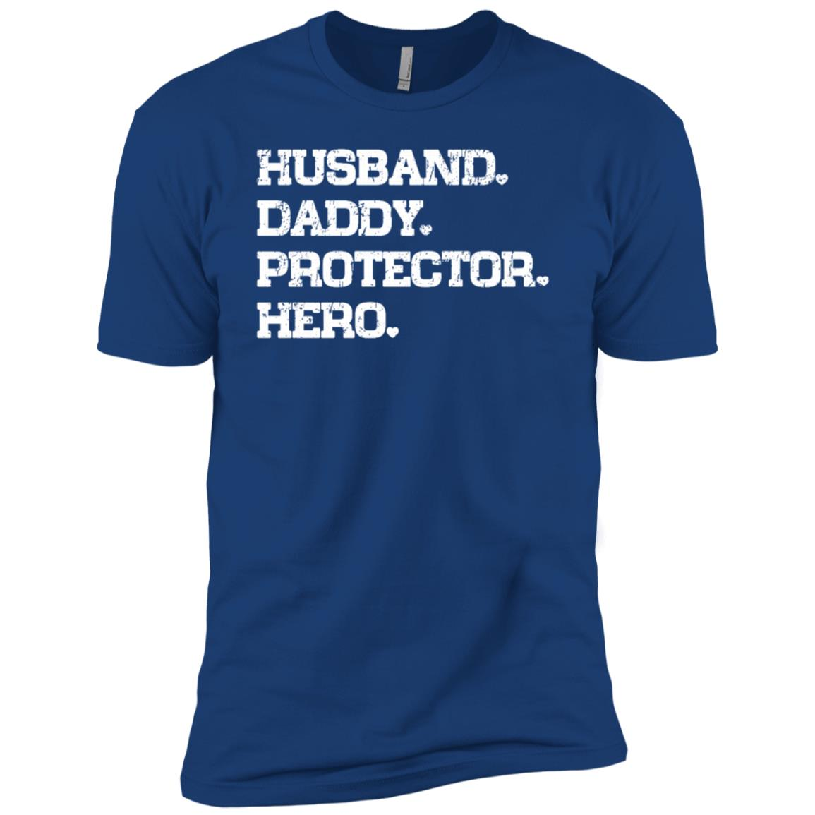 Husband Daddy Protector Hero Cool Dad Gift Sleeves Men Short Sleeve T-Shirt