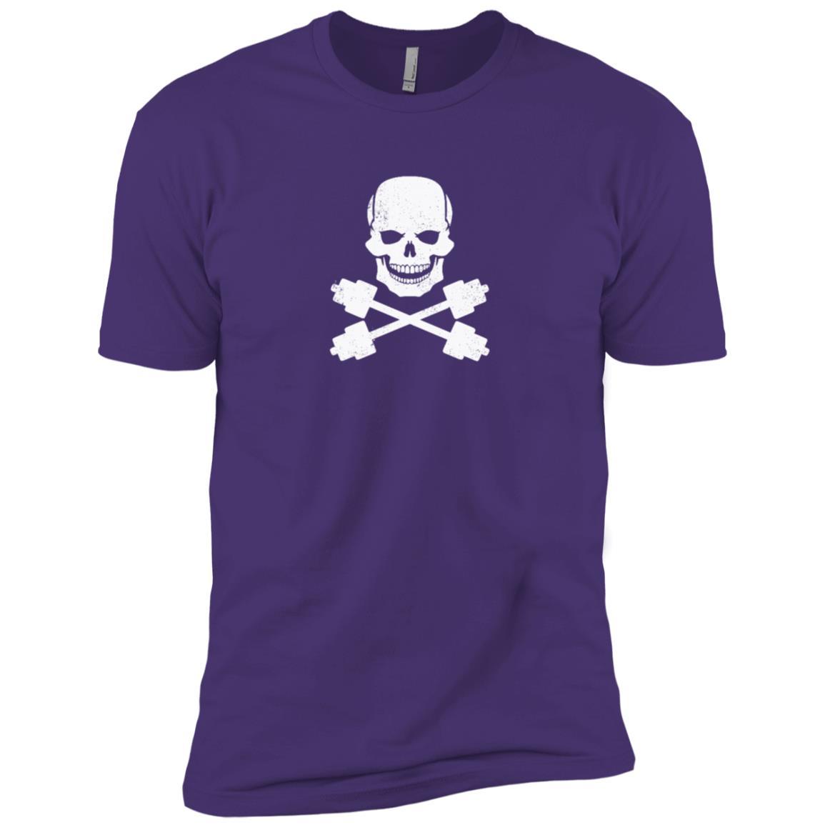 Funny pirate flag jolly roger barbell Men Short Sleeve T-Shirt