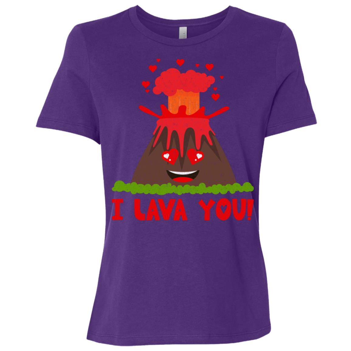 I Lava You – Funny Love Pun Women Short Sleeve T-Shirt