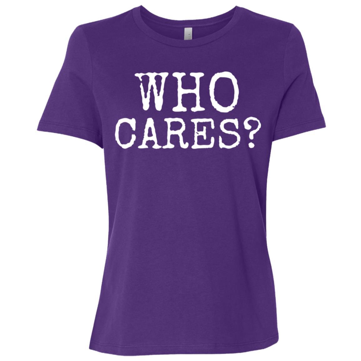 Funny Who Cares Bad Attitude Women Short Sleeve T-Shirt
