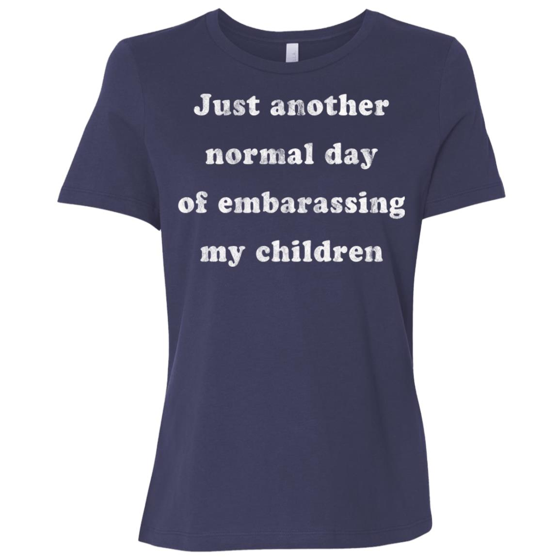Funny Parents Normal Day Embarrassing Kids Eye Roll Women Short Sleeve T-Shirt