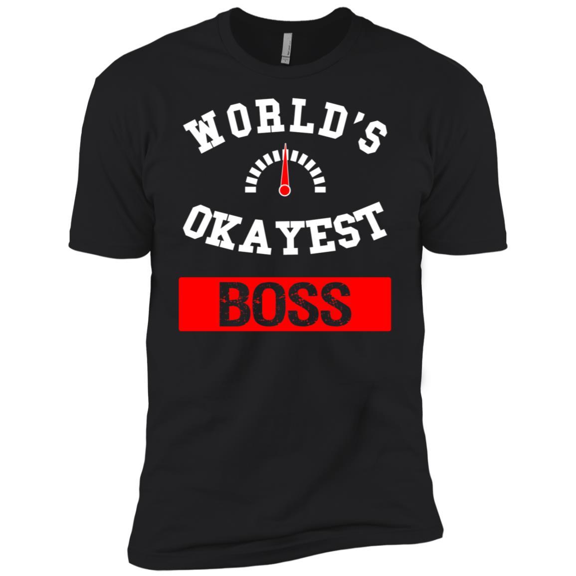 World's Okayest Boss Men Short Sleeve T-Shirt