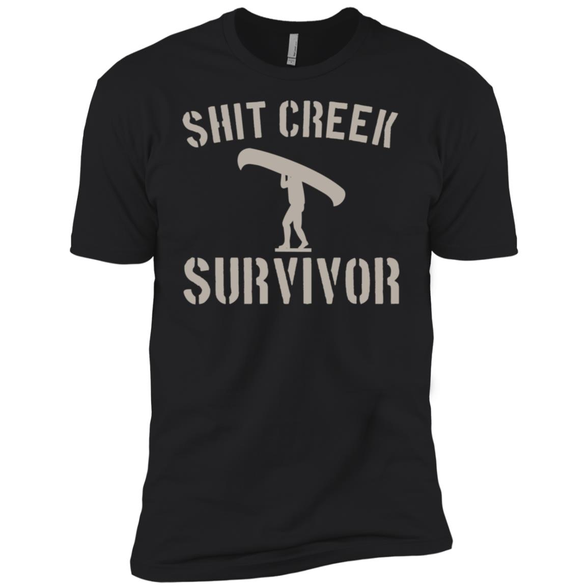 Shit Creek Survivor Funny Bad Luck Men Short Sleeve T-Shirt
