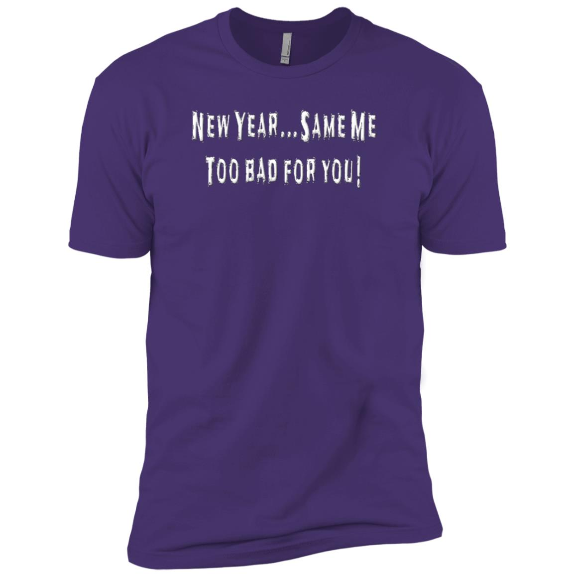 New Year Same Me Funny New Year Quotes Tee Men Short Sleeve T-Shirt