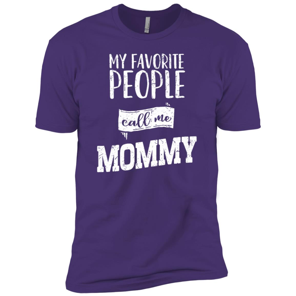 My Favorite People Call Me Mommy Family Love Sleeves Men Short Sleeve T-Shirt