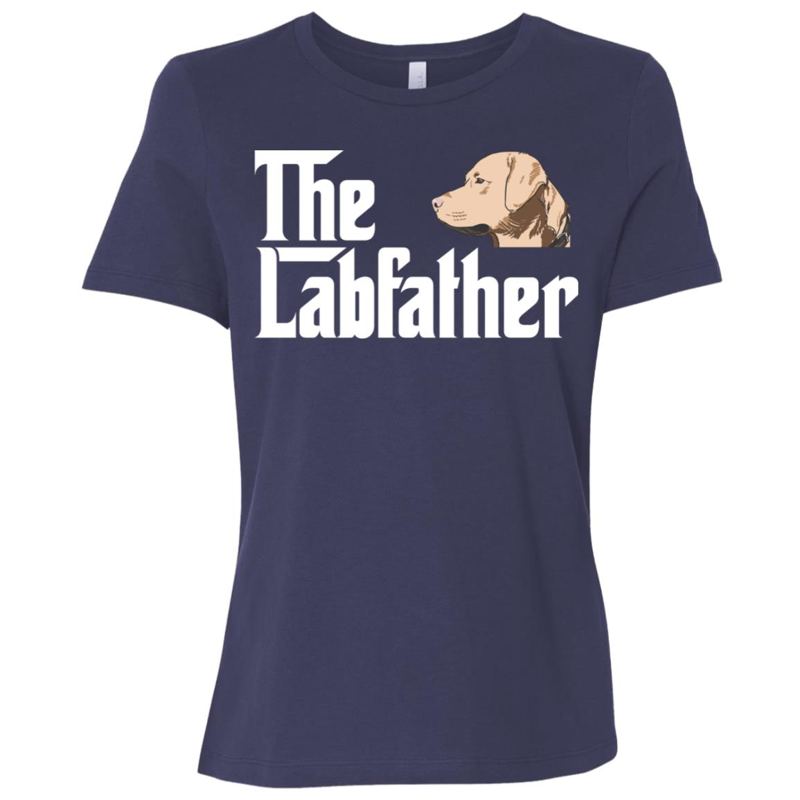 The Lab Father Funny Labrador Retriever Gift Women Short Sleeve T-Shirt