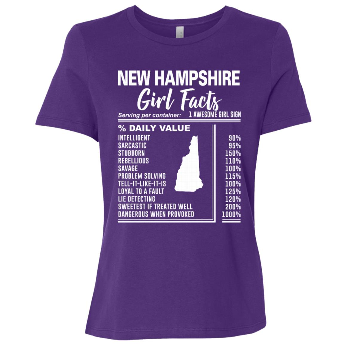 Born in New Hampshire – New Hampshire Girl Facts Women Short Sleeve T-Shirt