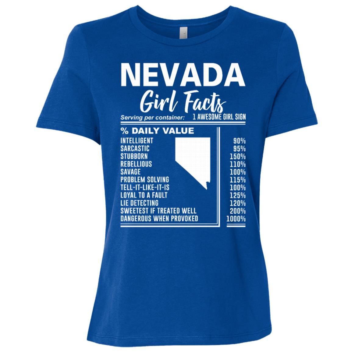 Born in Nevada – Nevada Girl Facts Women Short Sleeve T-Shirt